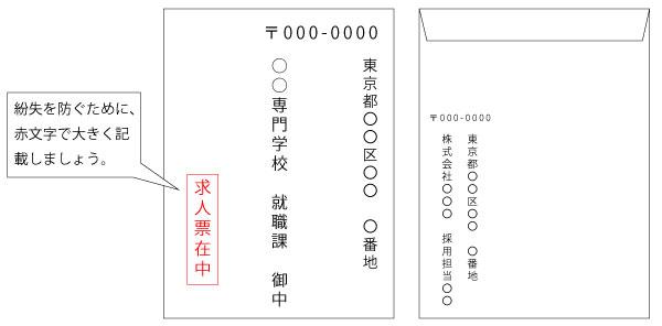 求人票封筒イメージ